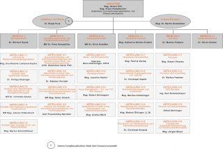 Dieses Bild zeigt das Organigramm der FMA