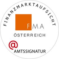 Dieses Bild zeigt die elektronische Amtssignatur der FMA