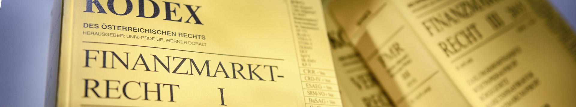 Auf diesem Bild ist der Kodex Finanzmarktrecht abgebildet