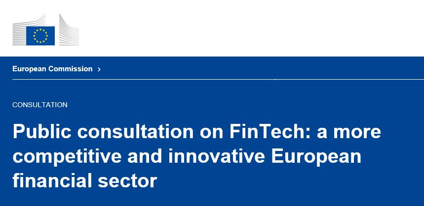 FinTech Konsultation Europäische Kommission